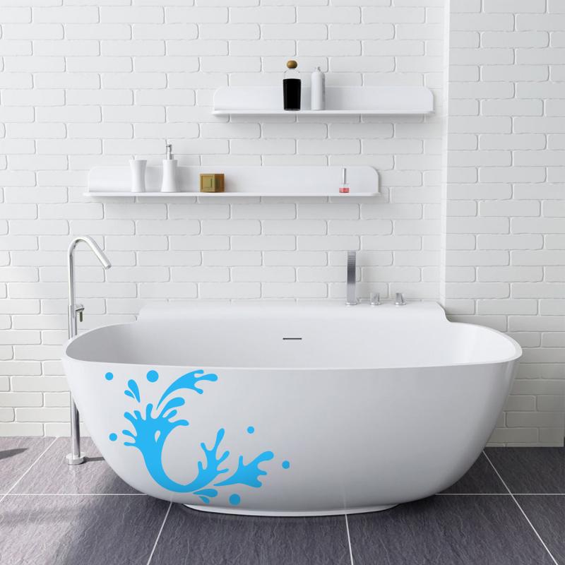Stickers muraux pour salle de bain sticker mural touche de peinture ambia - Revetements muraux pour salle de bain ...