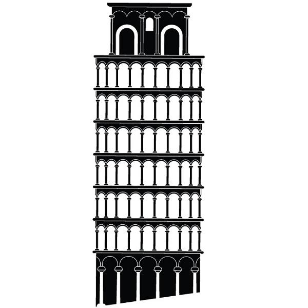 Tour de pise italie stickers muraux pays et villes - Taille de la tour de pise ...