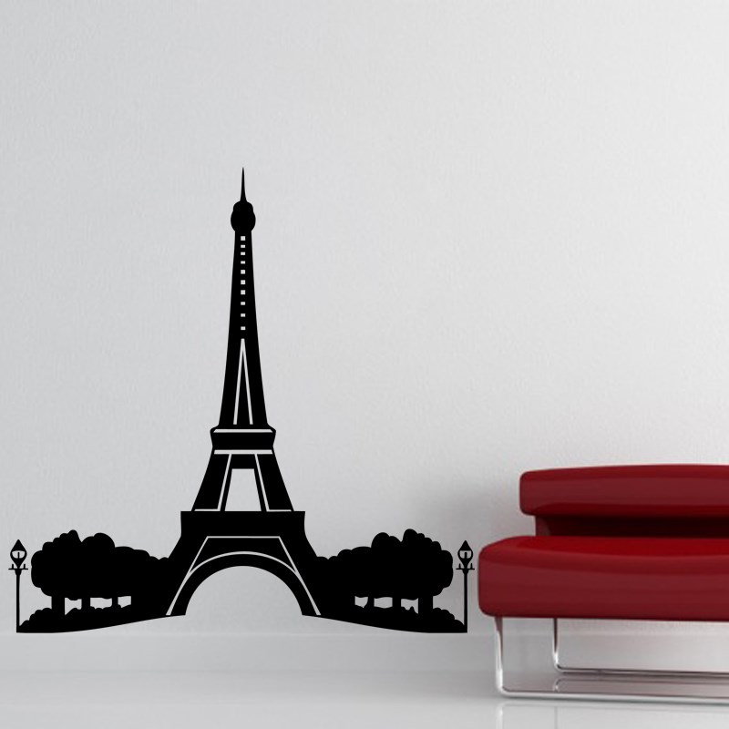 Stickers muraux paris sticker tour eiffel ambiance - Stickers muraux paris ...