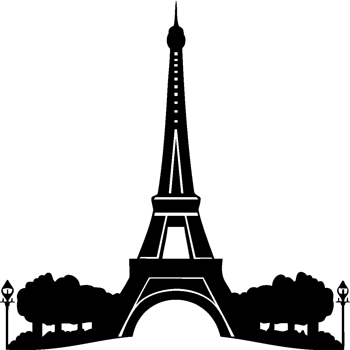 Stickers Muraux Paris Sticker Tour Eiffel Ambiance