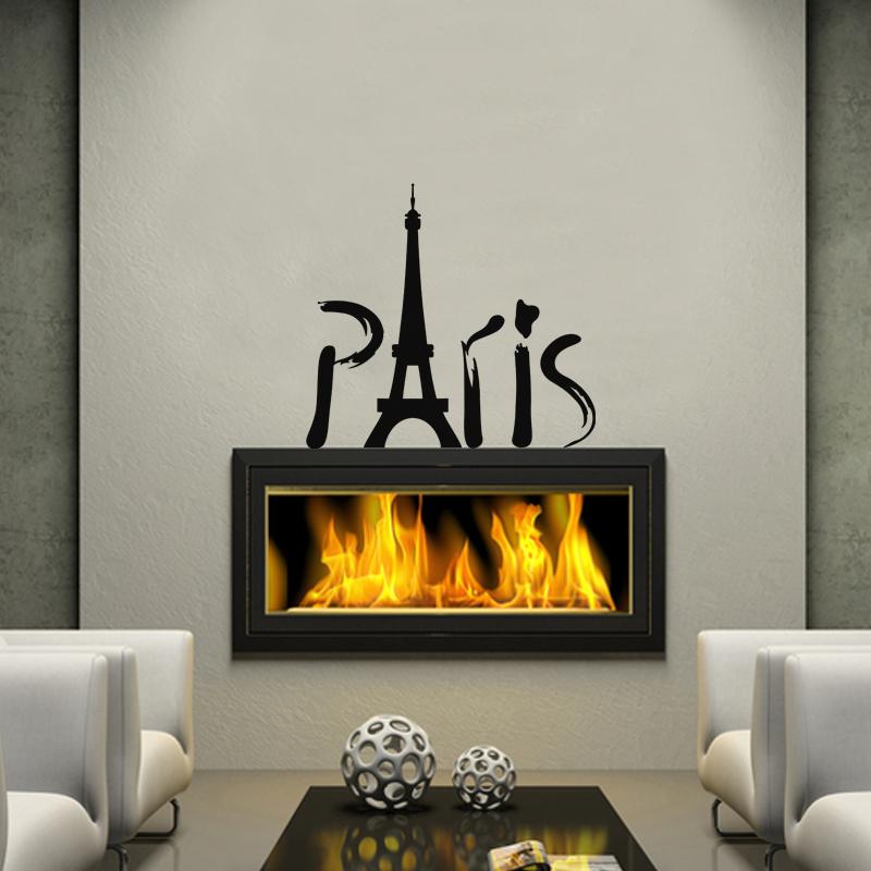 sticker tour eiffel artistique stickers villes et voyages ambiance sticker. Black Bedroom Furniture Sets. Home Design Ideas