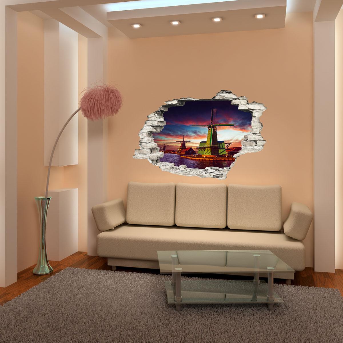 sticker trompe l 39 il tours moulins sur l 39 eau stickers villes et voyages pays et voyages. Black Bedroom Furniture Sets. Home Design Ideas