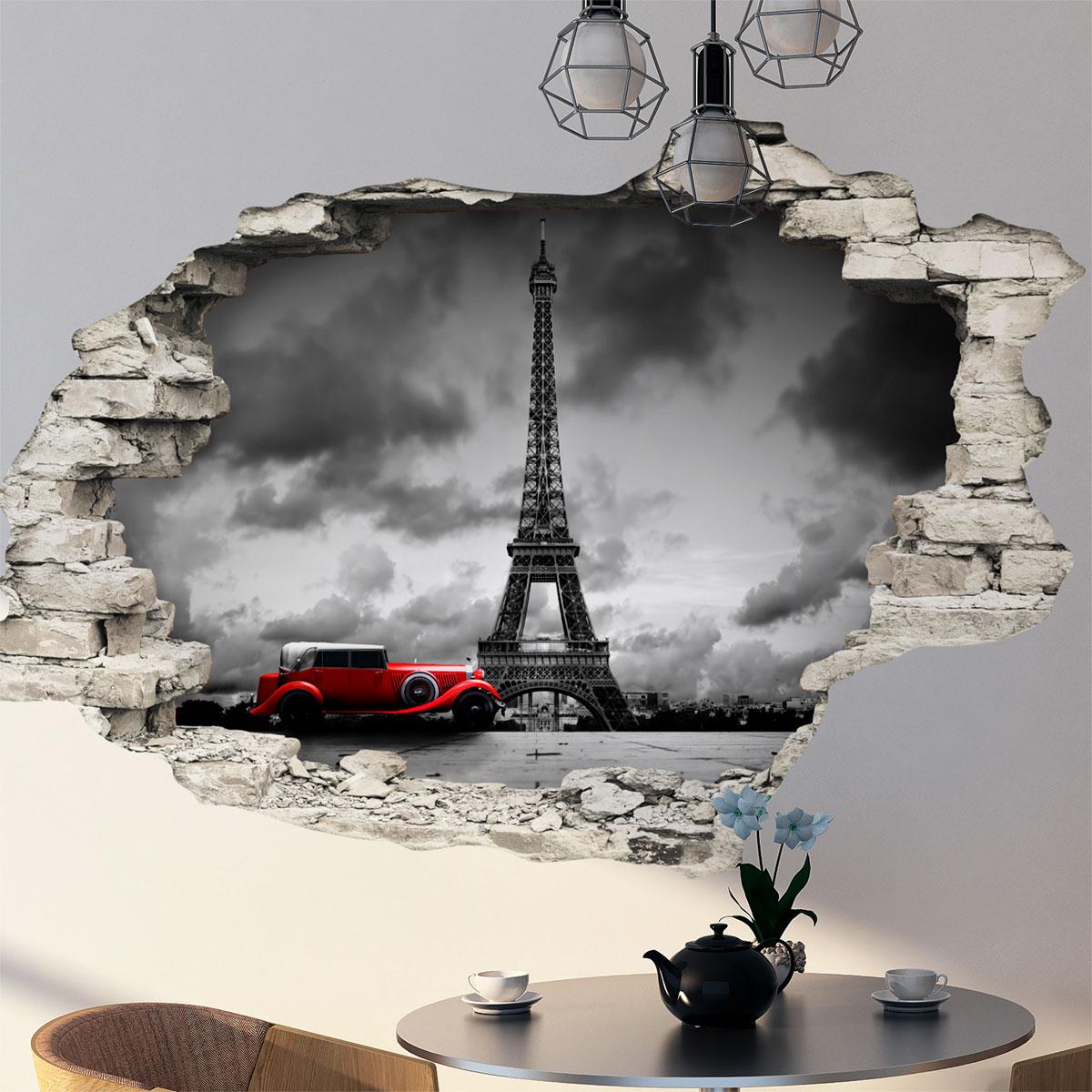 sticker trompe l 39 oeil nuit magique paris stickers. Black Bedroom Furniture Sets. Home Design Ideas