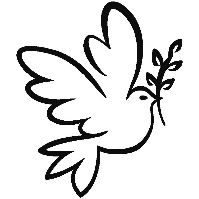 stickers muraux animaux sticker colombe de la paix ambiance. Black Bedroom Furniture Sets. Home Design Ideas