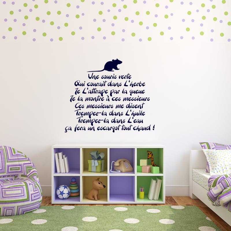 Sticker une souris verte stickers citations fran ais ambiance sticker - Une souris verte singe ...