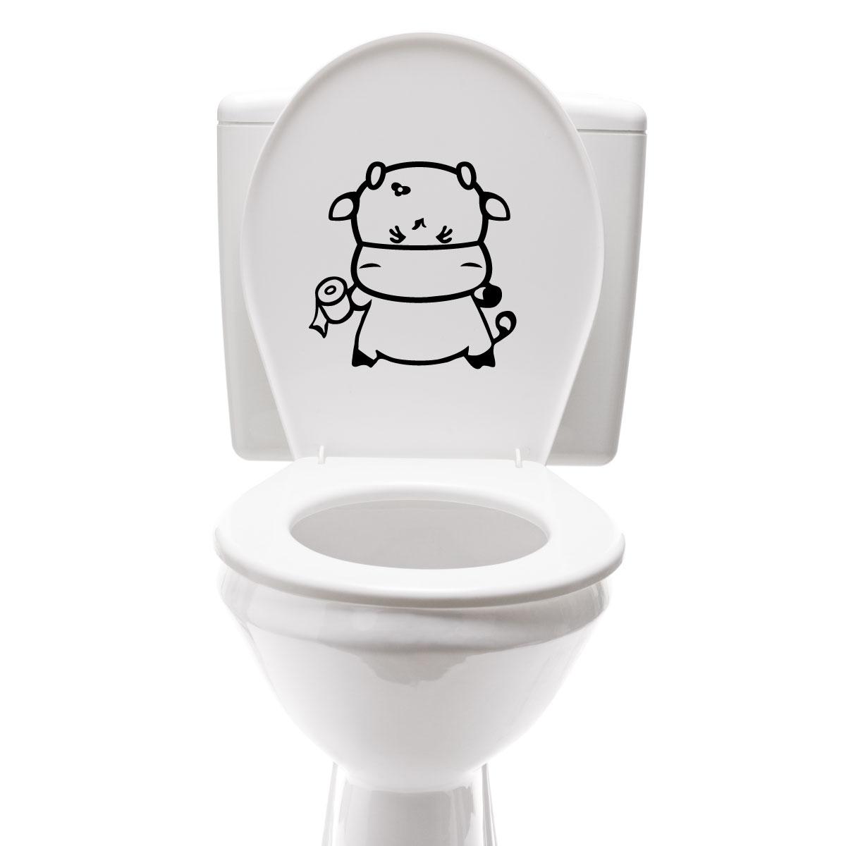 Stickers muraux pour salle de bain sticker mural vache for Photo salle de bain avec toilette
