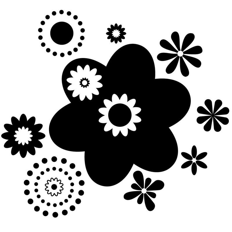 sticker vari t s de fleurs design stickers nature ambiance sticker. Black Bedroom Furniture Sets. Home Design Ideas