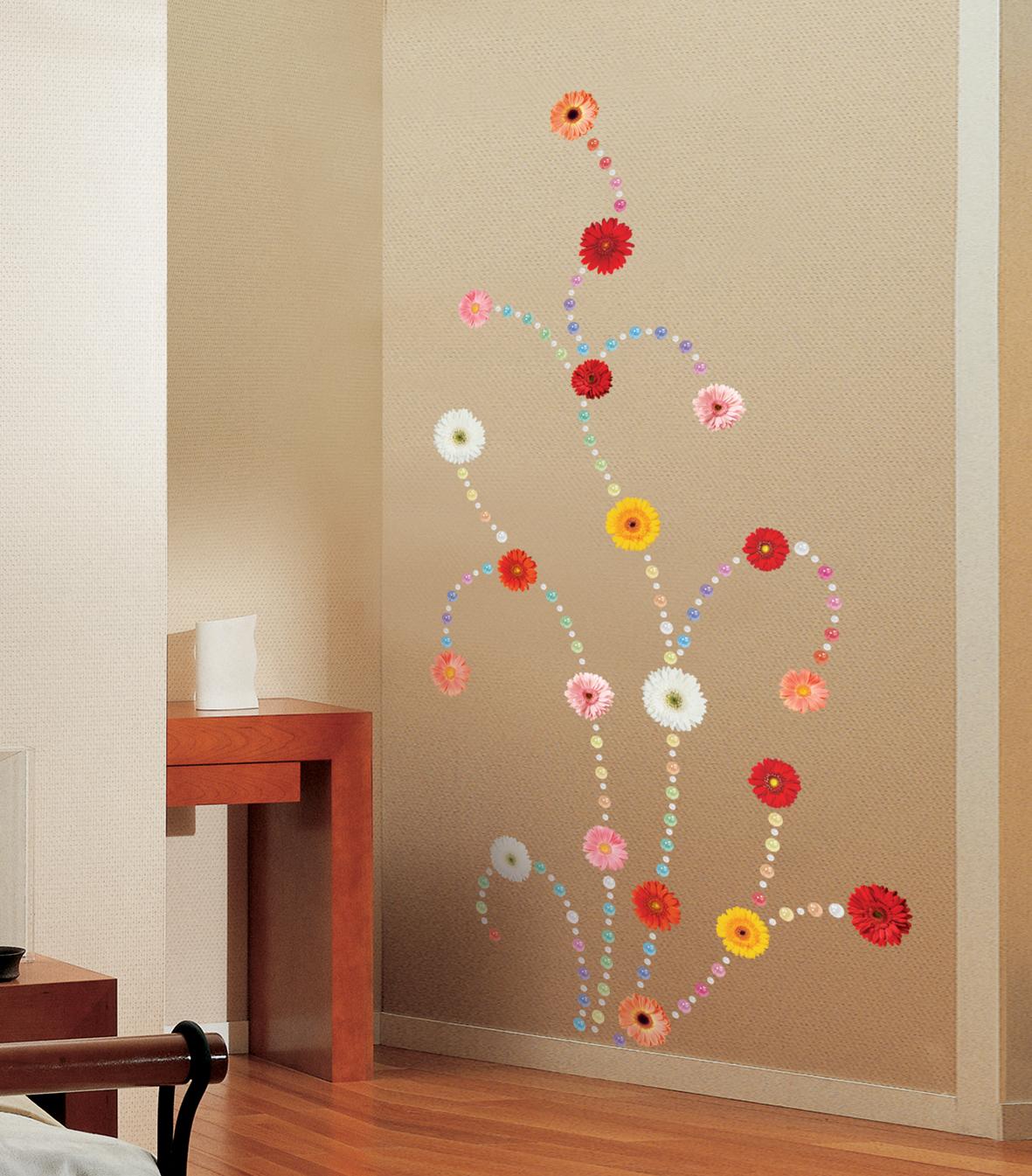 stickers de silhouettes et personnages sticker vari t s de fleurs ambiance. Black Bedroom Furniture Sets. Home Design Ideas