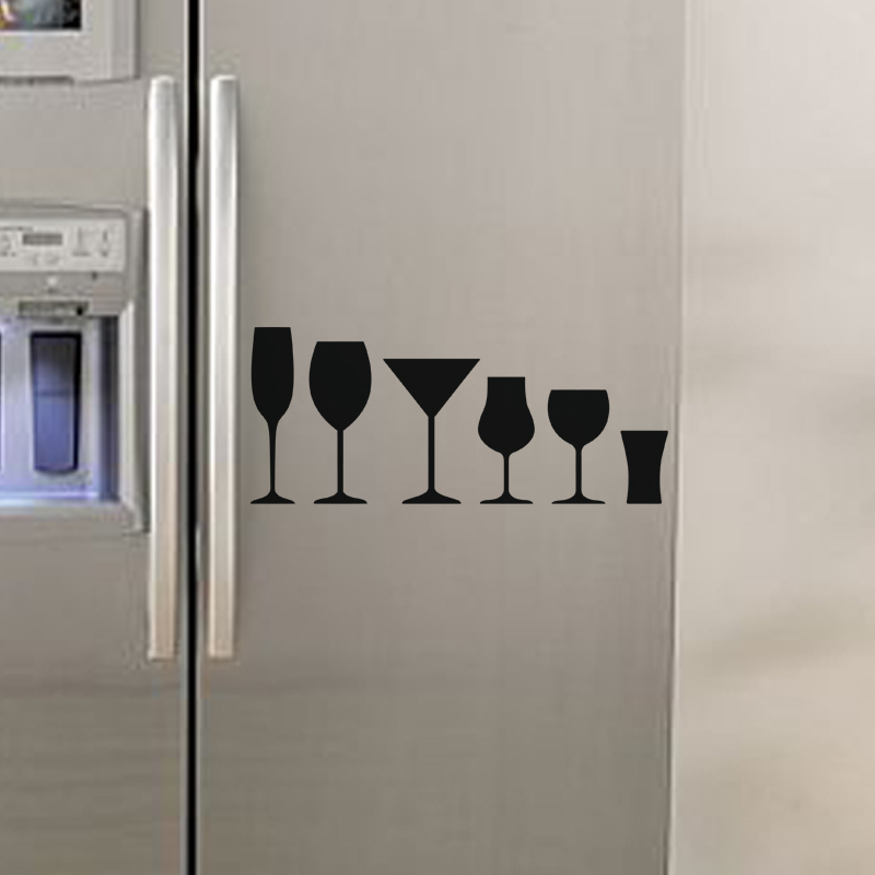 sticker verres stickers frigo ambiance. Black Bedroom Furniture Sets. Home Design Ideas