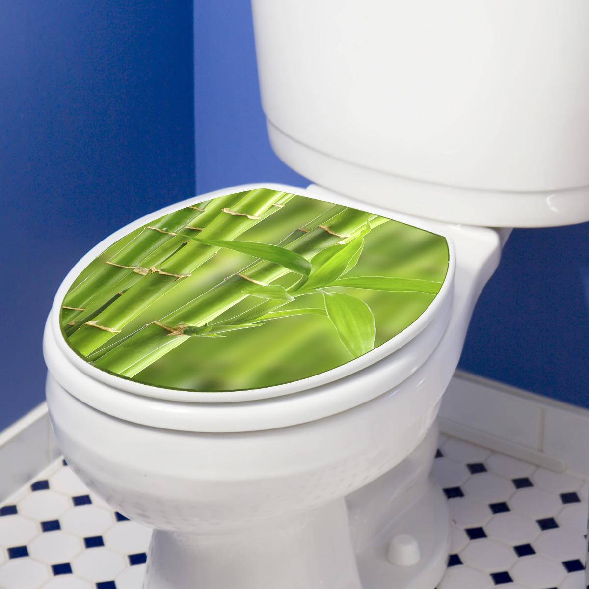 stickers muraux pour wc sticker mural vert branche de bambou ambiance. Black Bedroom Furniture Sets. Home Design Ideas