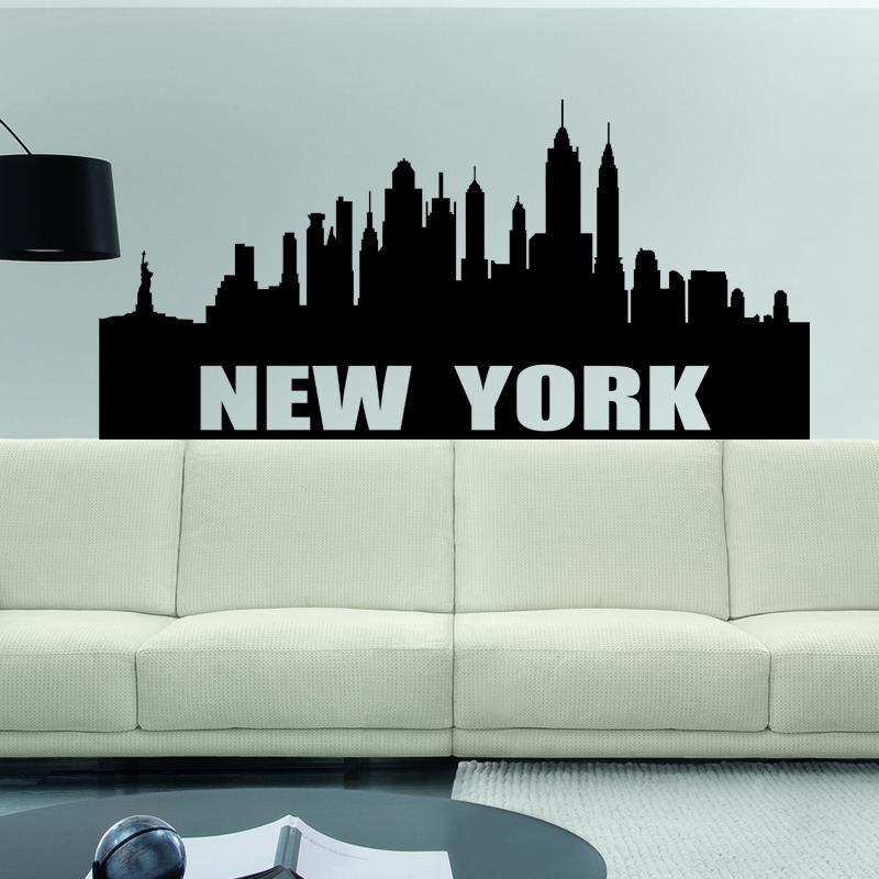 stickers muraux new york sticker ville de new york ambiance. Black Bedroom Furniture Sets. Home Design Ideas
