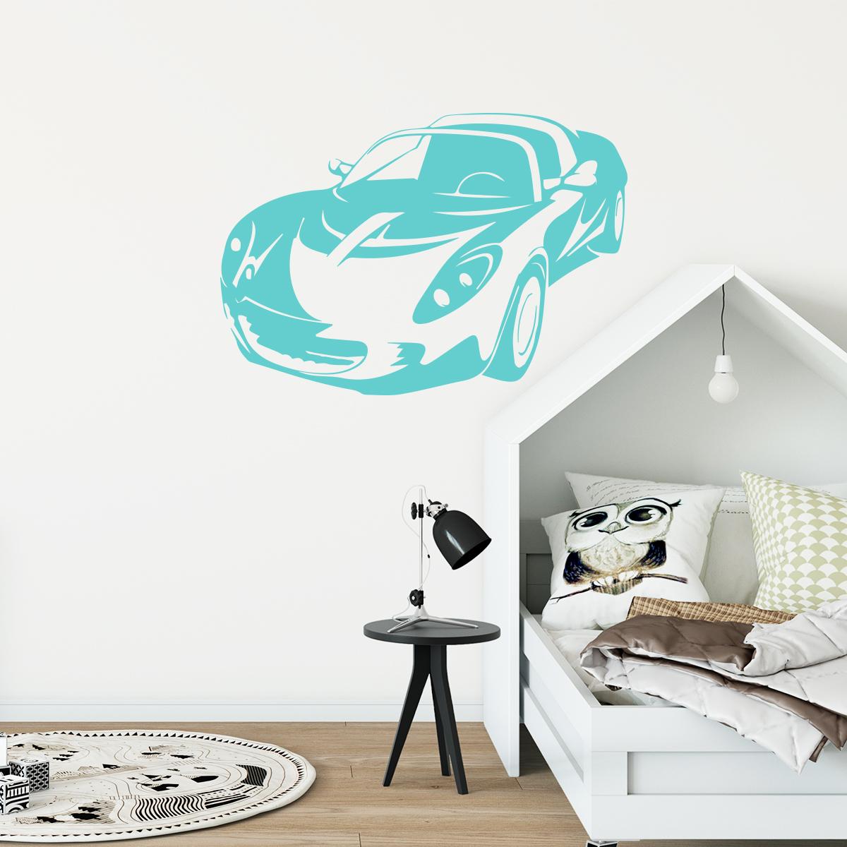 Sticker voiture dynamique stickers chambre ado gar on for Stickers pour chambre ado garcon