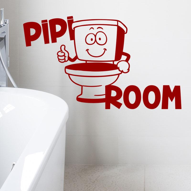 Sticker wc pipi room stickers toilettes porte ambiance sticker - Stickers porte wc ...