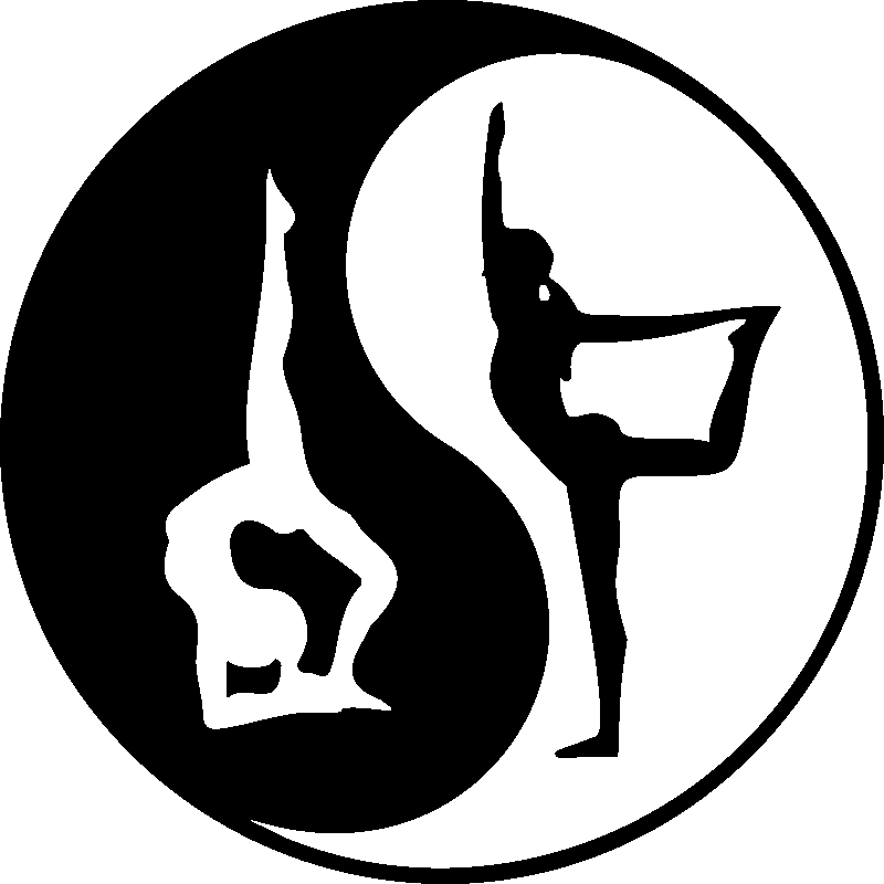 Sticker yoga yin yang acrobatique stickers chambre zen for Lit yin yang