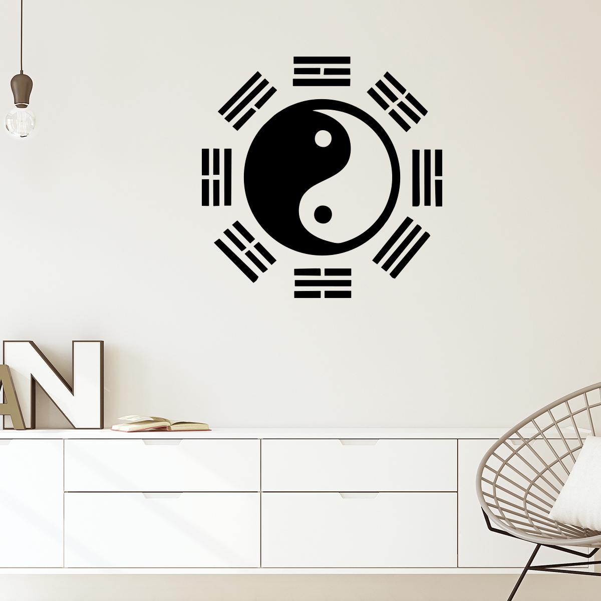 Sticker Yoga Yin Yang Radar Stickers Salle De Bain Et Wc Salle De