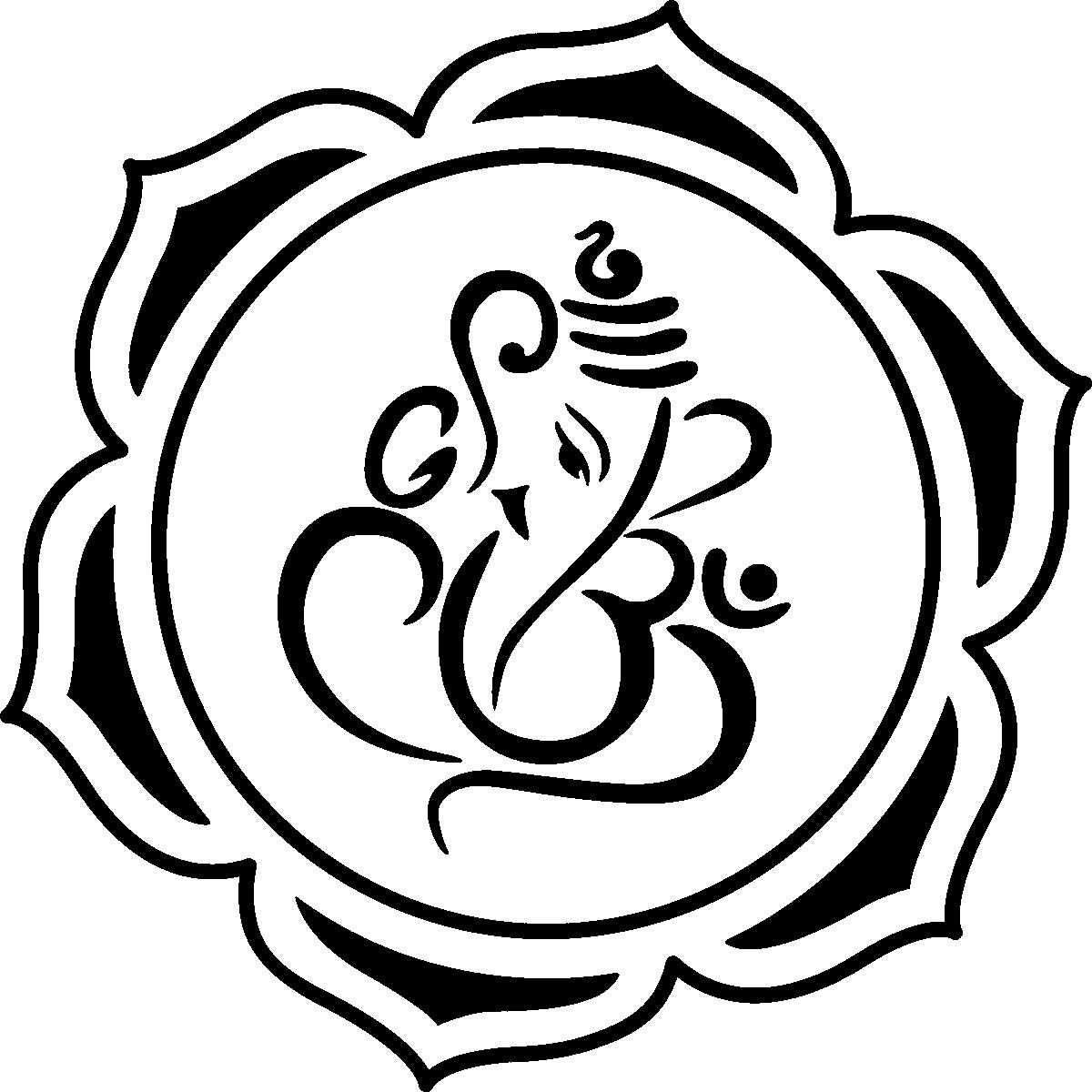 Wedding Card Design Line Art : Sticker muraux zen mural ganesha le lotus et