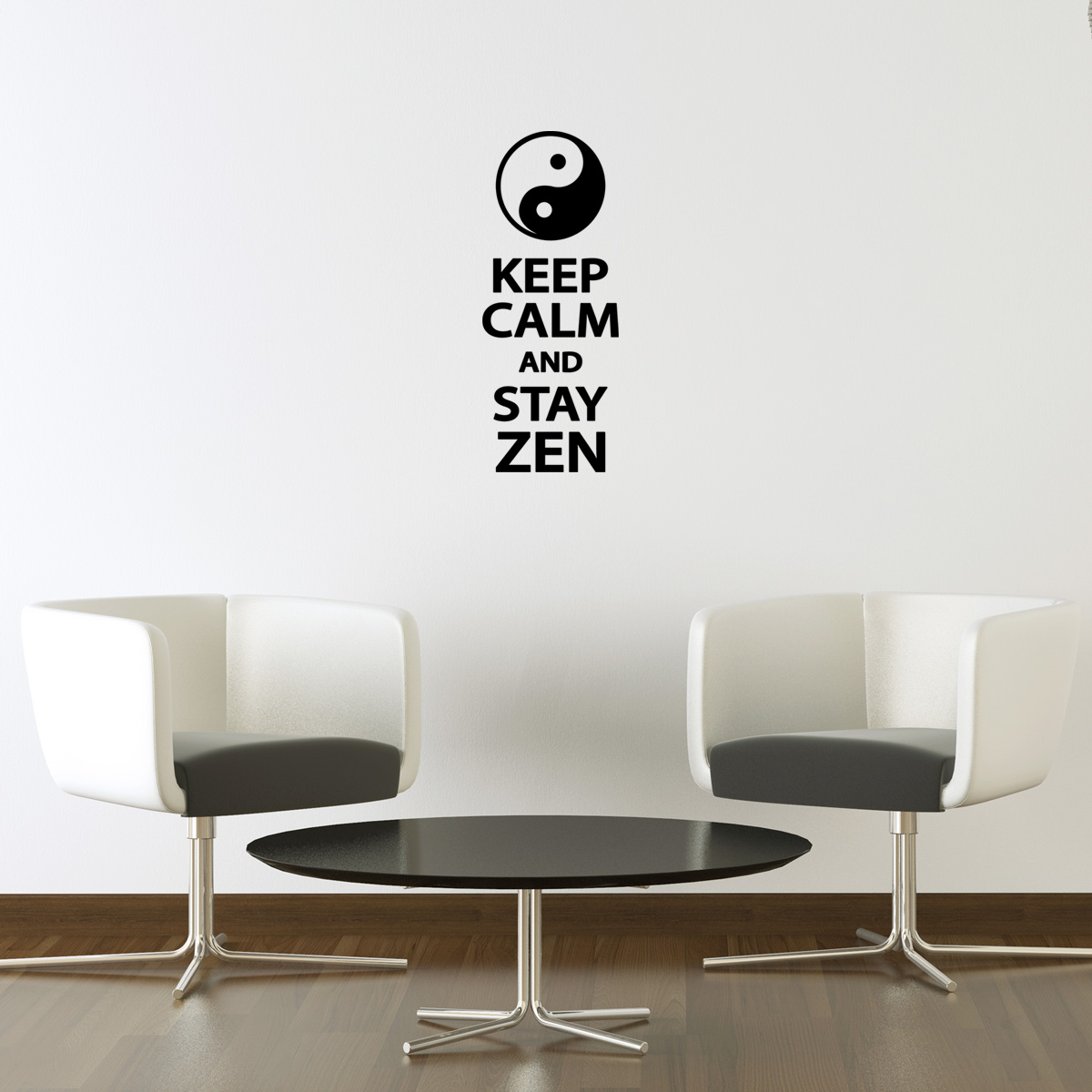 Sticker Mural Gardez Votre Calme Et