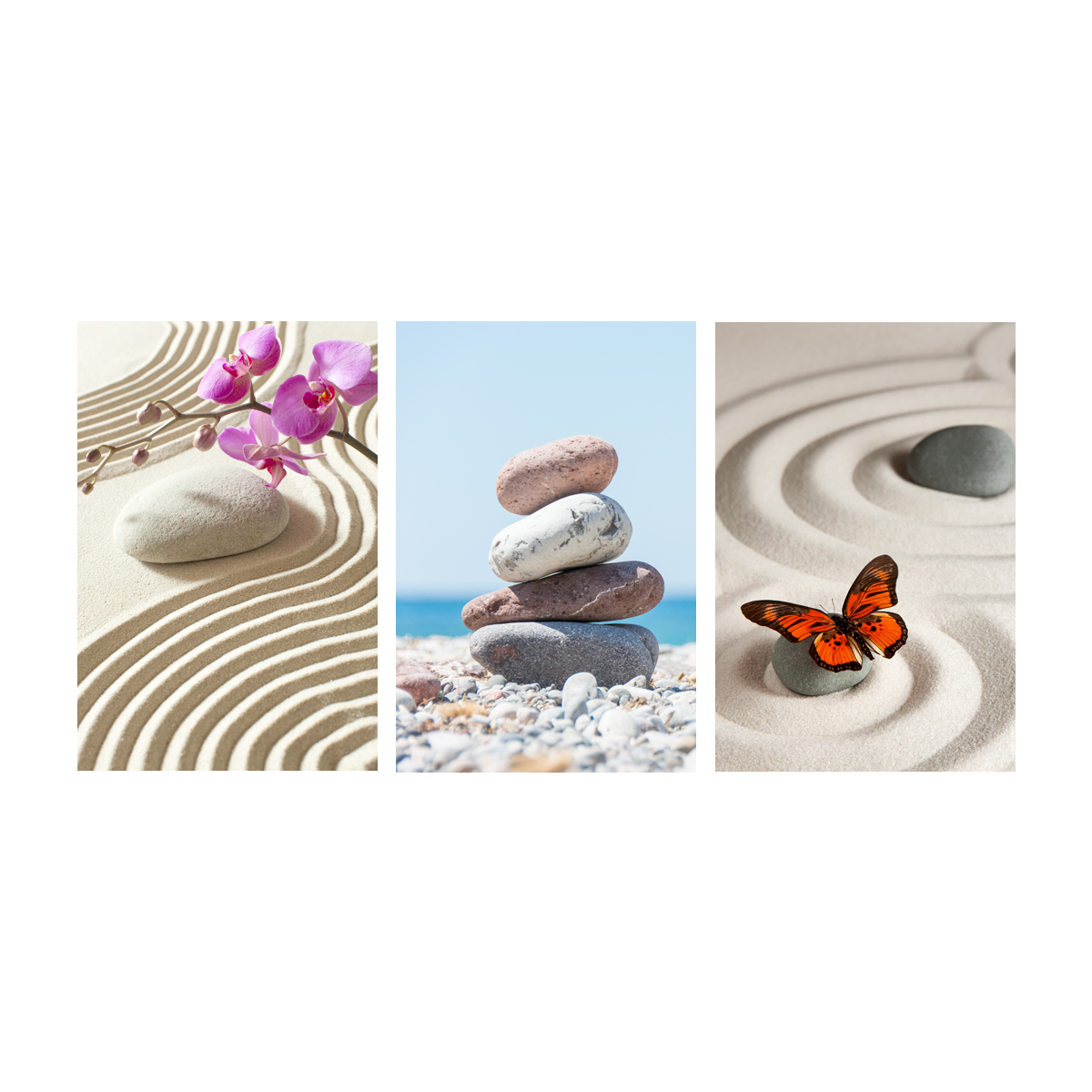 Sticker muraux zen sticker mural kit de 3 mod les de zen for Stickers muraux
