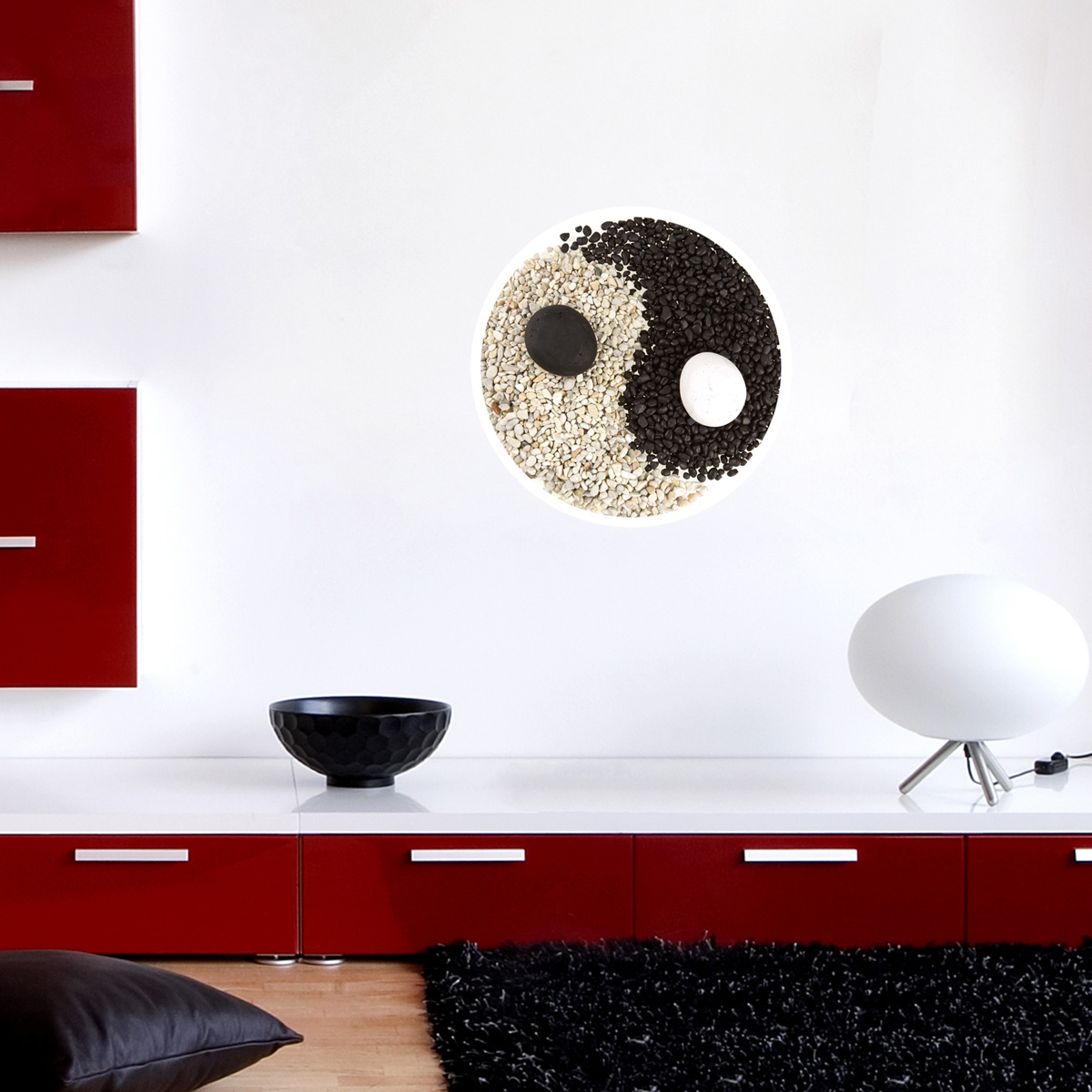 Sticker muraux zen sticker mural yin yang cercle for Salle de bain yin yang