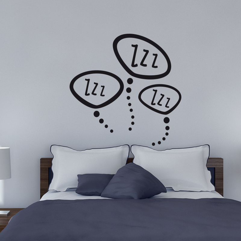 stickers muraux pour chambre sticker mural zzz zzz ambiance. Black Bedroom Furniture Sets. Home Design Ideas