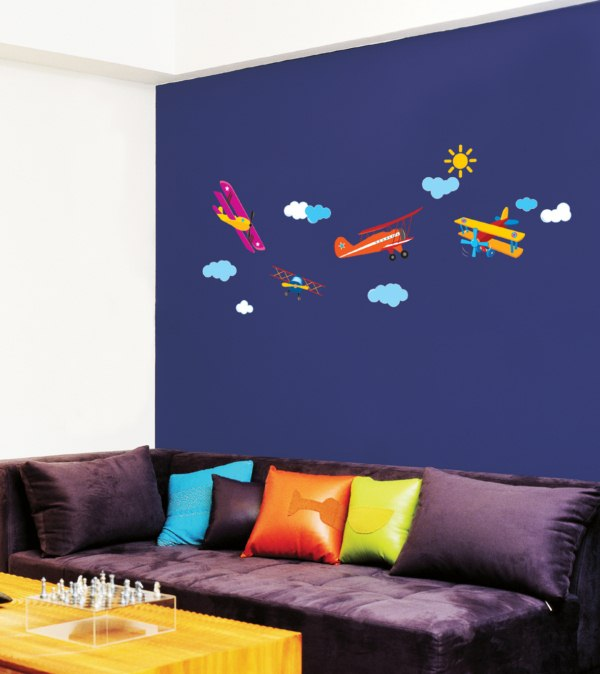 sticker avions volants stickers muraux enfants ambiance. Black Bedroom Furniture Sets. Home Design Ideas