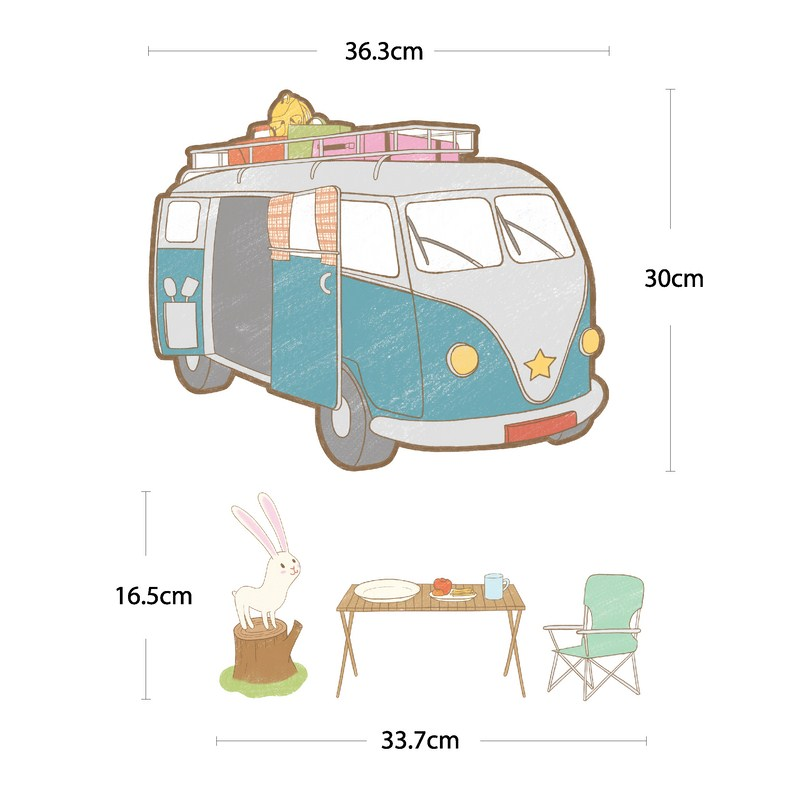 stickers pour les b b s stickers camping car et ours ambiance. Black Bedroom Furniture Sets. Home Design Ideas