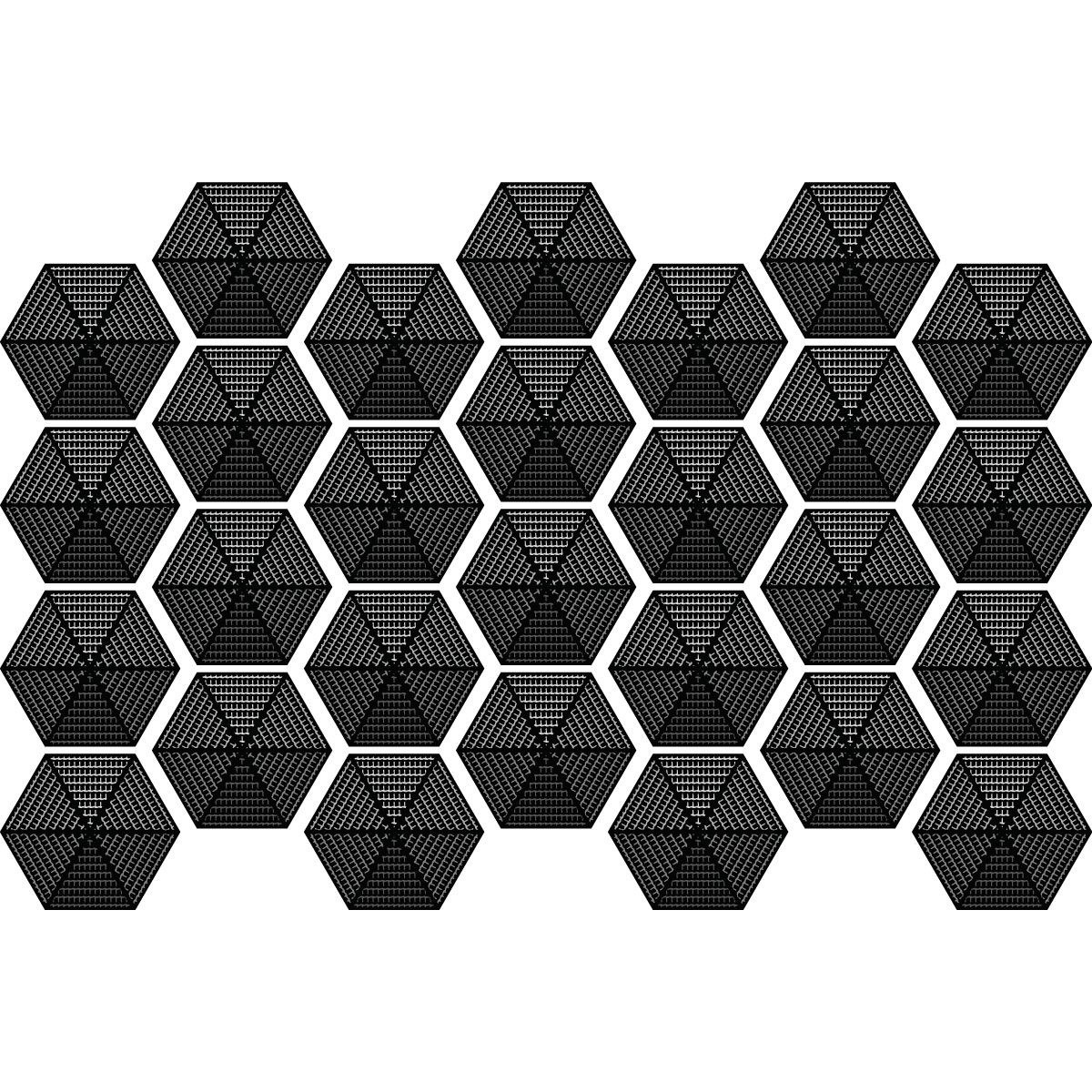 stickers carreaux de ciment hexagones design noir salle. Black Bedroom Furniture Sets. Home Design Ideas