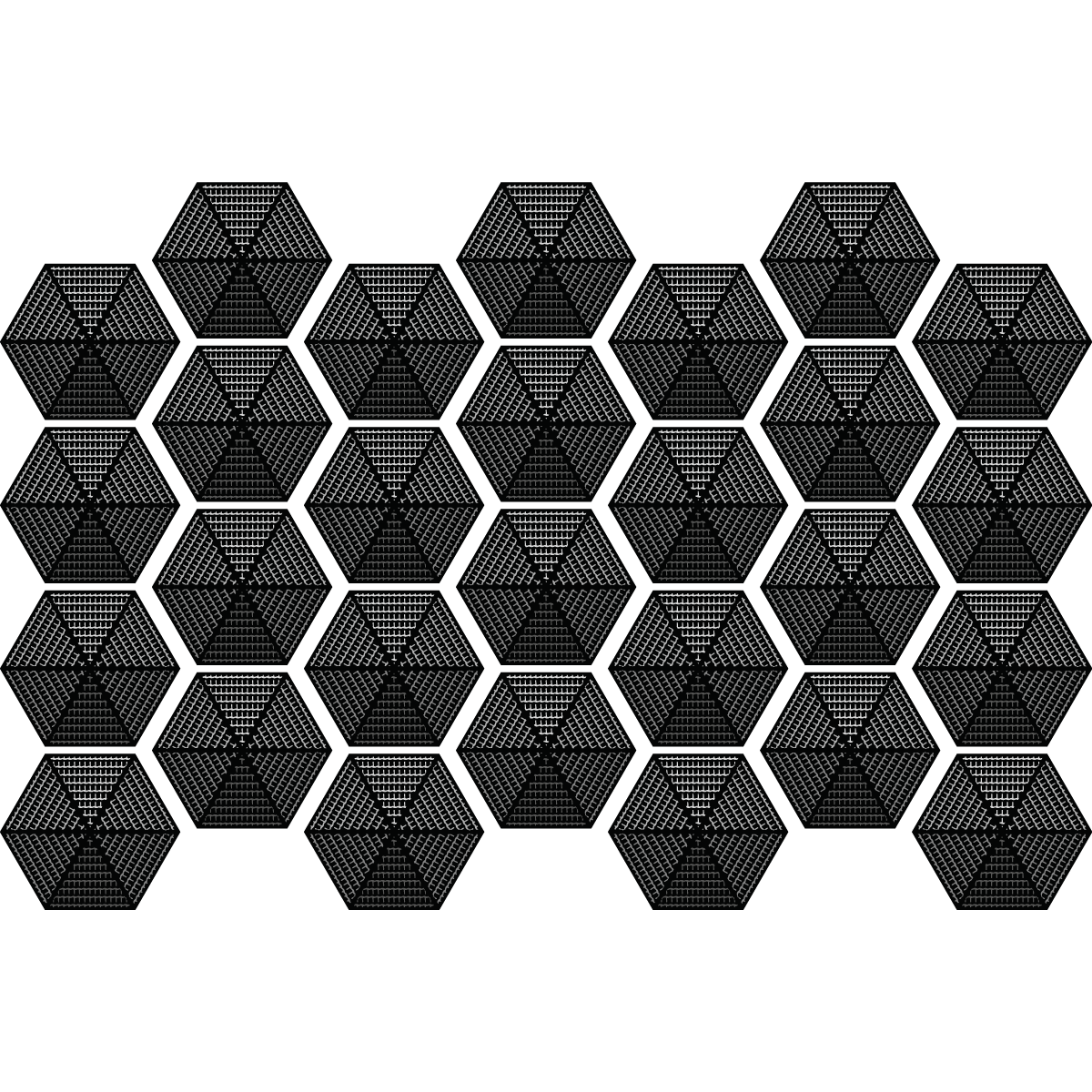 Stickers carreaux de ciment hexagones design noir salle for Stickers carreaux salle de bain