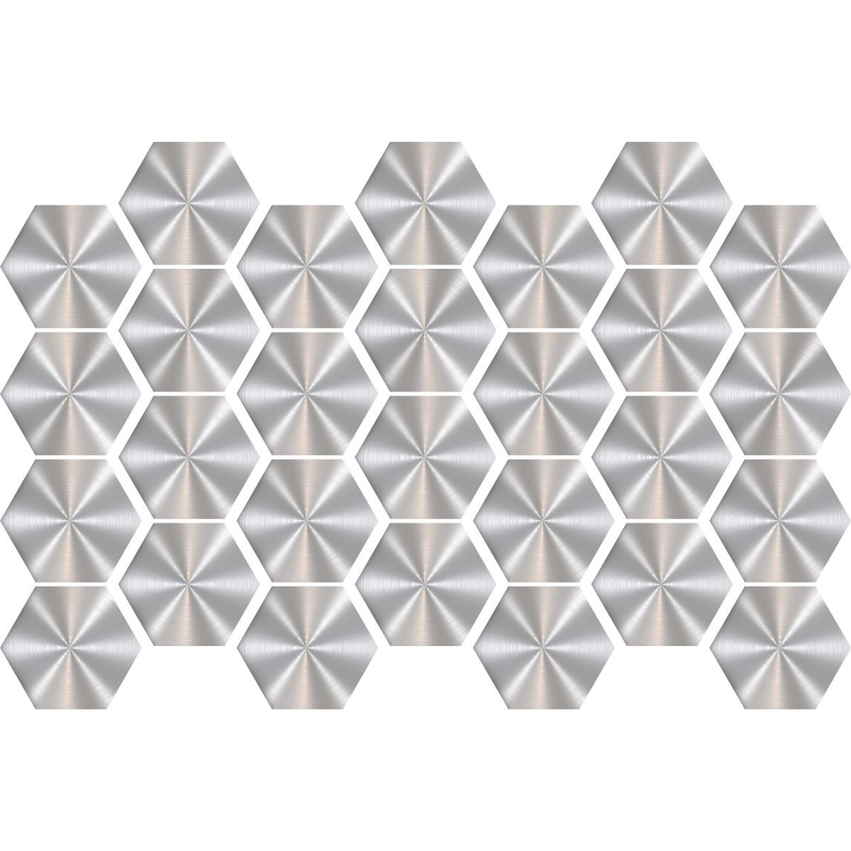 stickers carreaux de ciment hexagones gris acier salle de bain et wc salle de bain ambiance. Black Bedroom Furniture Sets. Home Design Ideas