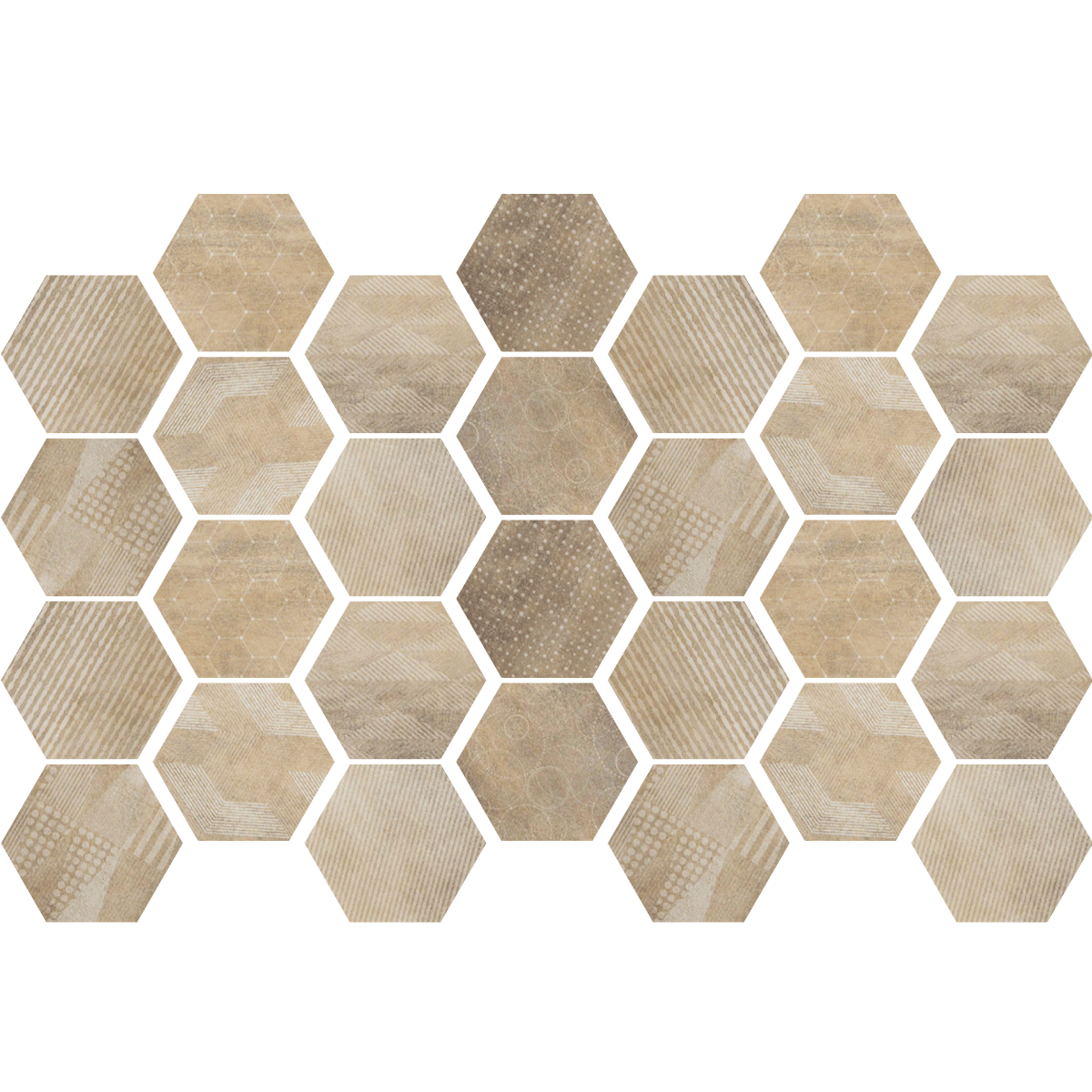 Stickers carrelages hexagones bois patin salle de bain for Carrelage 20x20 couleur