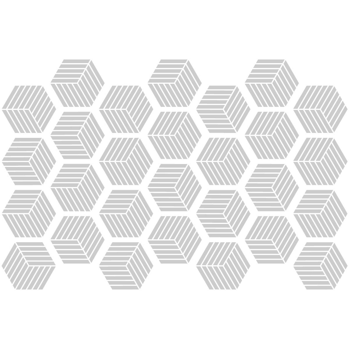 stickers carrelages hexagones nuance de gris design salle de bain et wc salle de bain. Black Bedroom Furniture Sets. Home Design Ideas