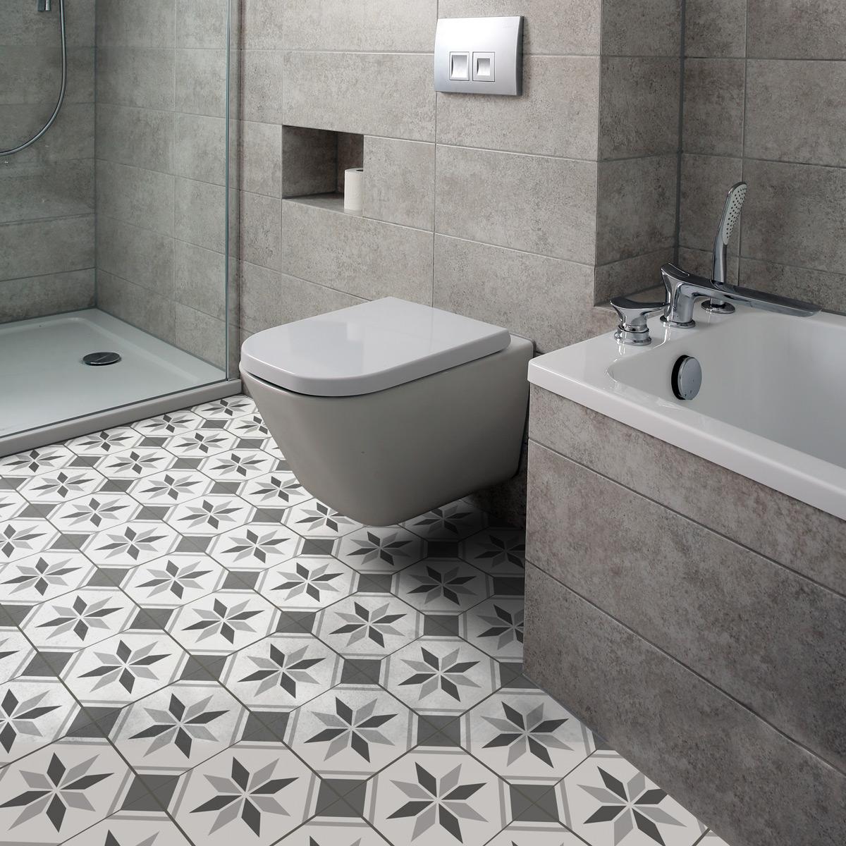 stickers carrelages sol aldara anti d rapant 60x100 cm. Black Bedroom Furniture Sets. Home Design Ideas