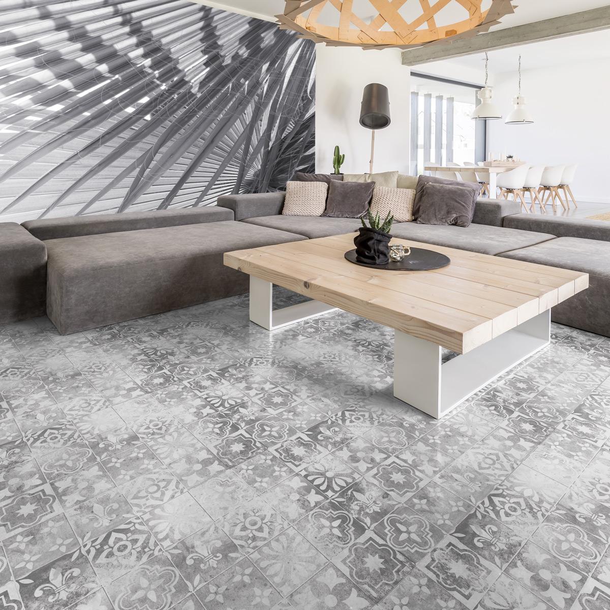 stickers carrelages sol moreno anti d rapant 60 x 90 cm. Black Bedroom Furniture Sets. Home Design Ideas