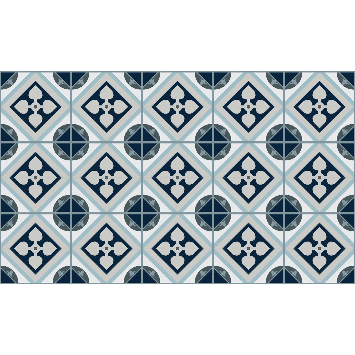 stickers carrelages sol ricardo anti d rapant 60x100 cm cuisine carrelages ambiance sticker. Black Bedroom Furniture Sets. Home Design Ideas