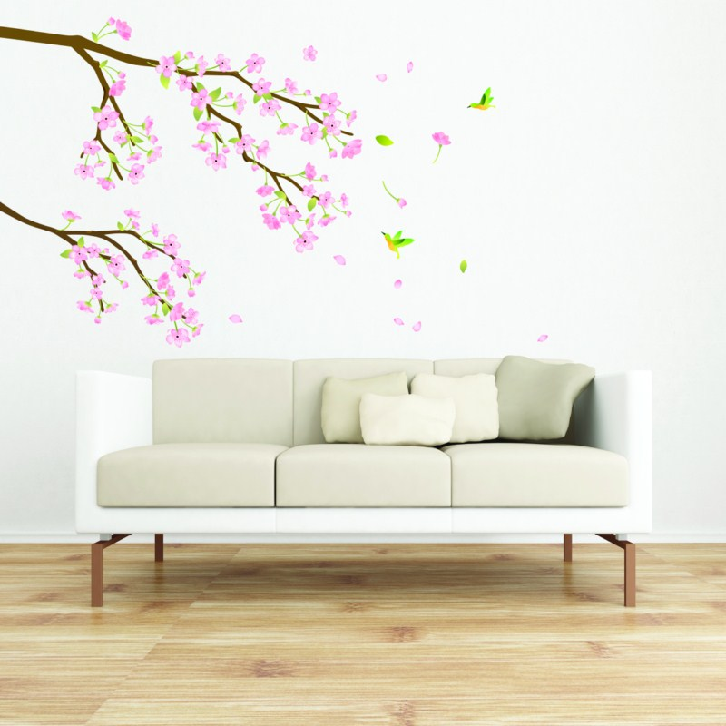 stickers cerisier du japon stickers nature arbres. Black Bedroom Furniture Sets. Home Design Ideas