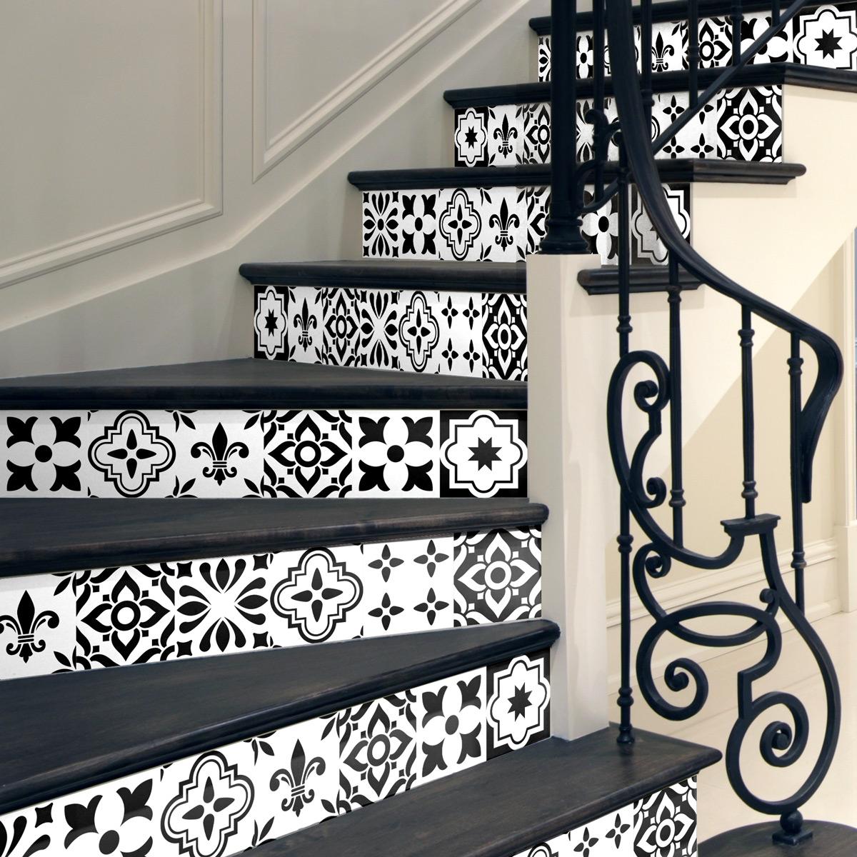 stickers contremarche carreaux de ciment damiano x 2 stickers promos stickers 50. Black Bedroom Furniture Sets. Home Design Ideas