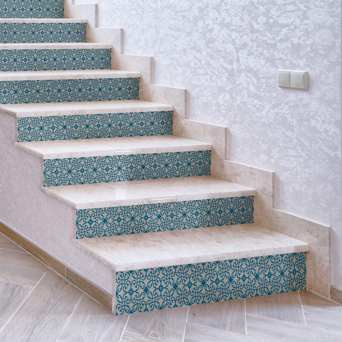 stickers contremarche carreaux de ciment davia x 2 stickers carrelage stickers carrelage. Black Bedroom Furniture Sets. Home Design Ideas