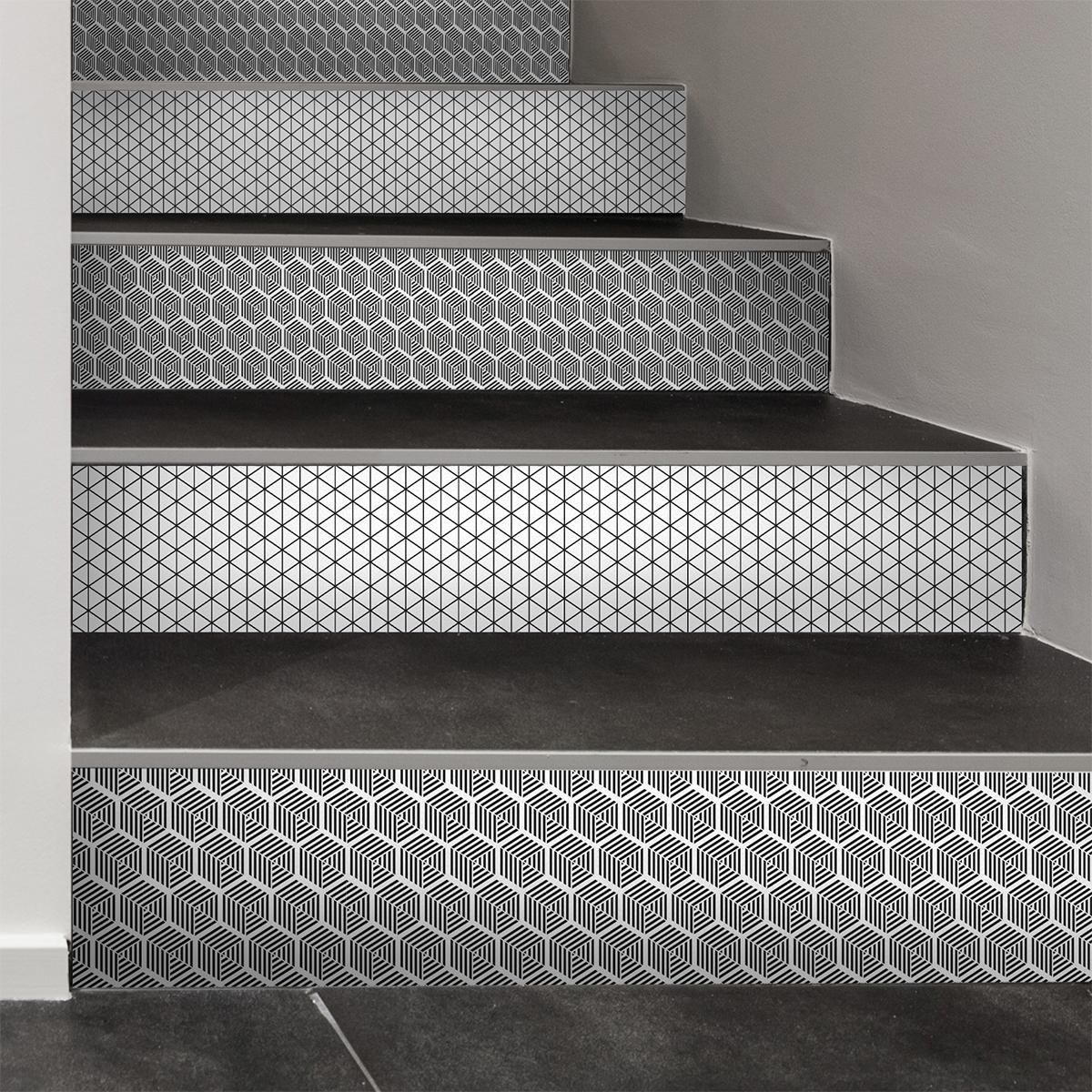 stickers contremarche carreaux de ciment haakon x 2. Black Bedroom Furniture Sets. Home Design Ideas