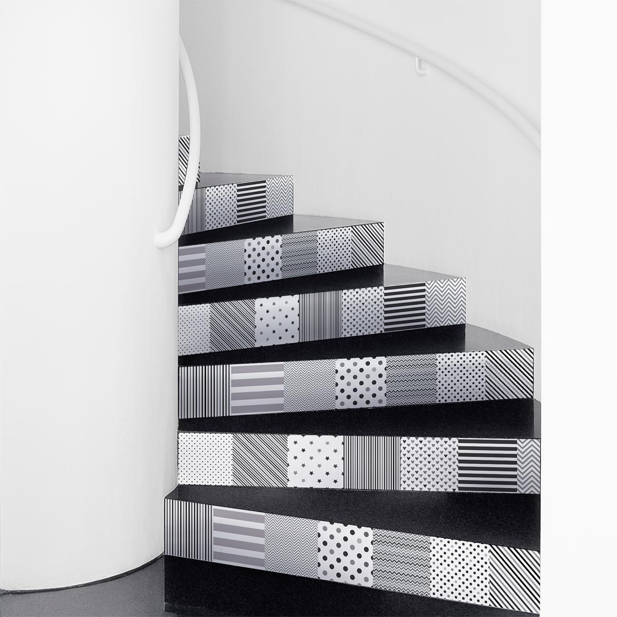 stickers contremarche carreaux de ciment harald x 2. Black Bedroom Furniture Sets. Home Design Ideas