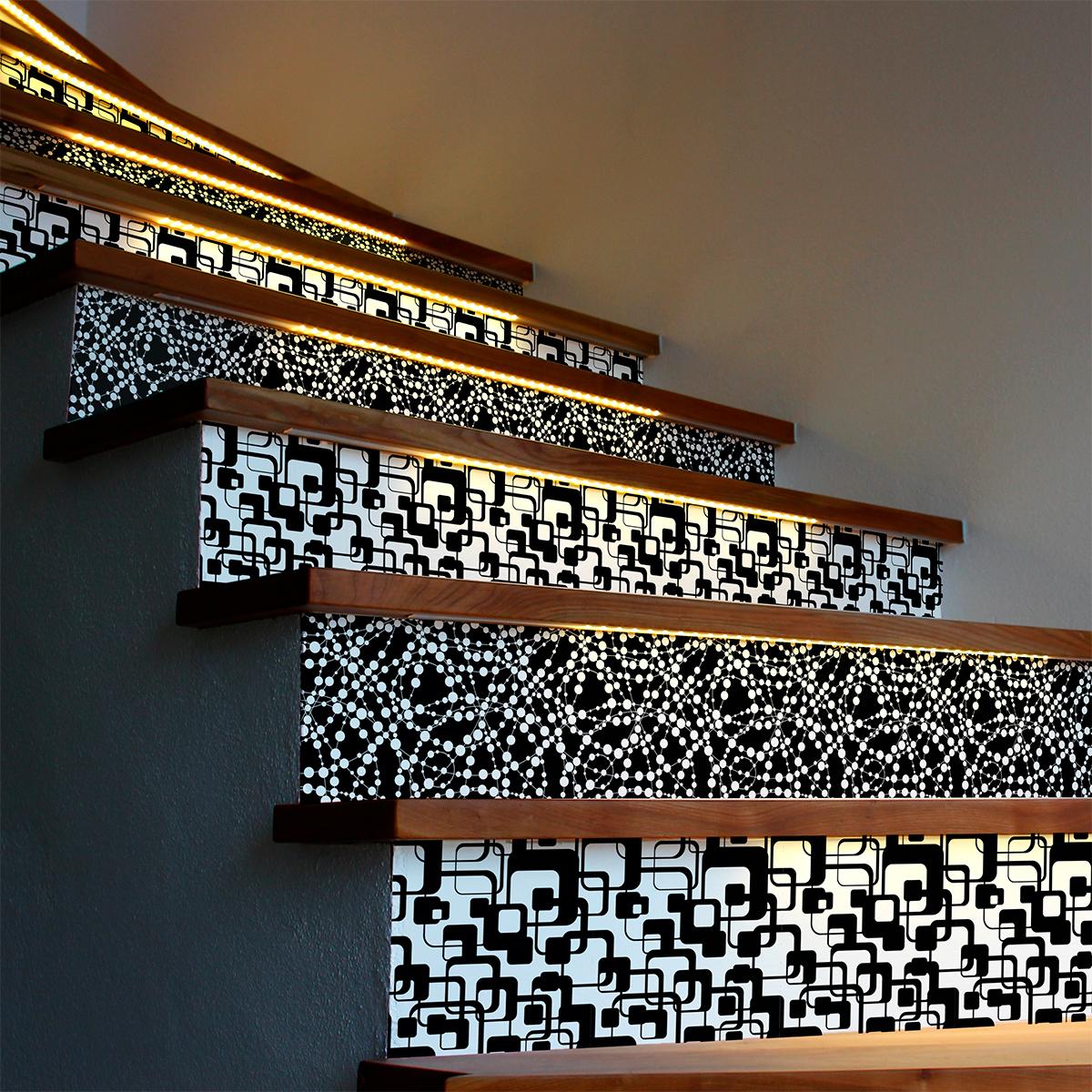 stickers contremarche carreaux de ciment jarl x 2 stickers carrelage stickers carrelage. Black Bedroom Furniture Sets. Home Design Ideas