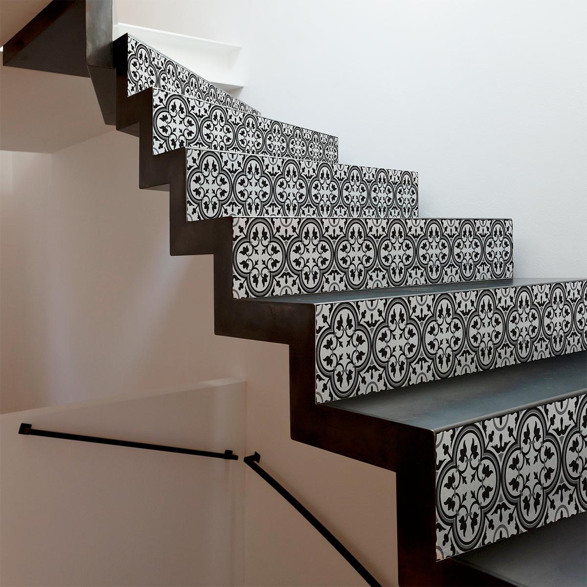 stickers contremarche carreaux de ciment lucia x 2 jenica nouveaut s ambiance sticker. Black Bedroom Furniture Sets. Home Design Ideas