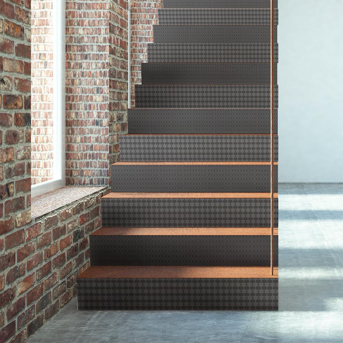 stickers contremarche carreaux de ciment margit x 2. Black Bedroom Furniture Sets. Home Design Ideas