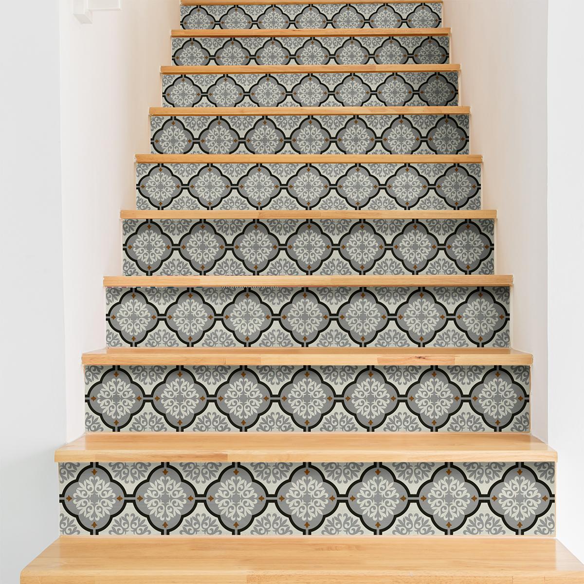 stickers contremarche carreaux de ciment serena x 2 stickers carrelage stickers carrelage. Black Bedroom Furniture Sets. Home Design Ideas