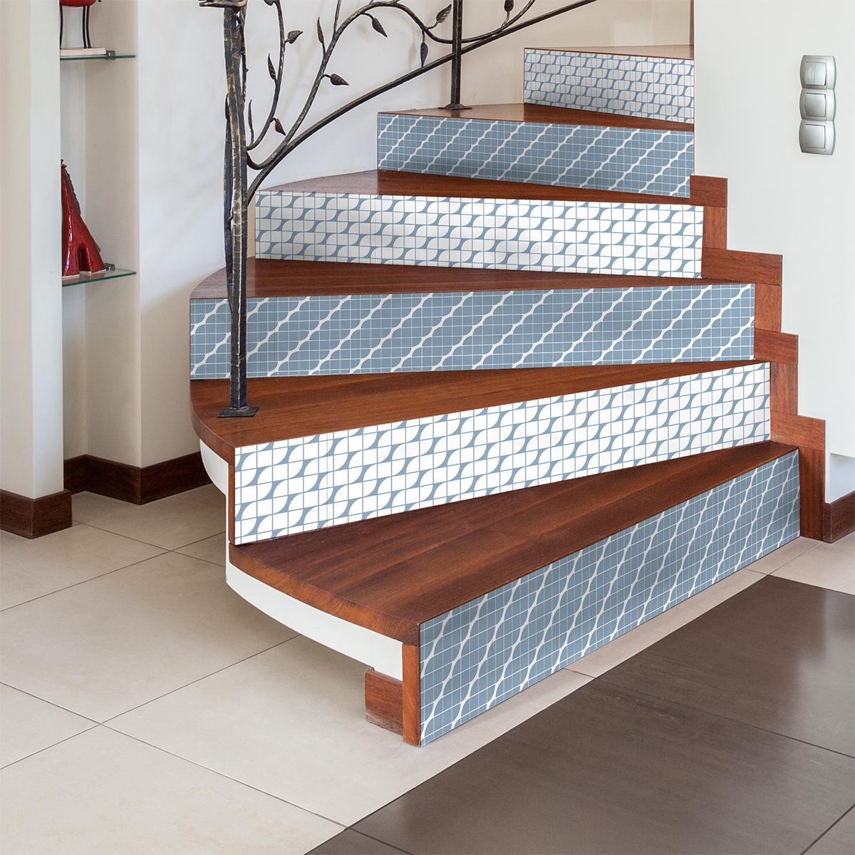 stickers contremarche carreaux de ciment sigrid x 2 jenica nouveaut s ambiance sticker. Black Bedroom Furniture Sets. Home Design Ideas