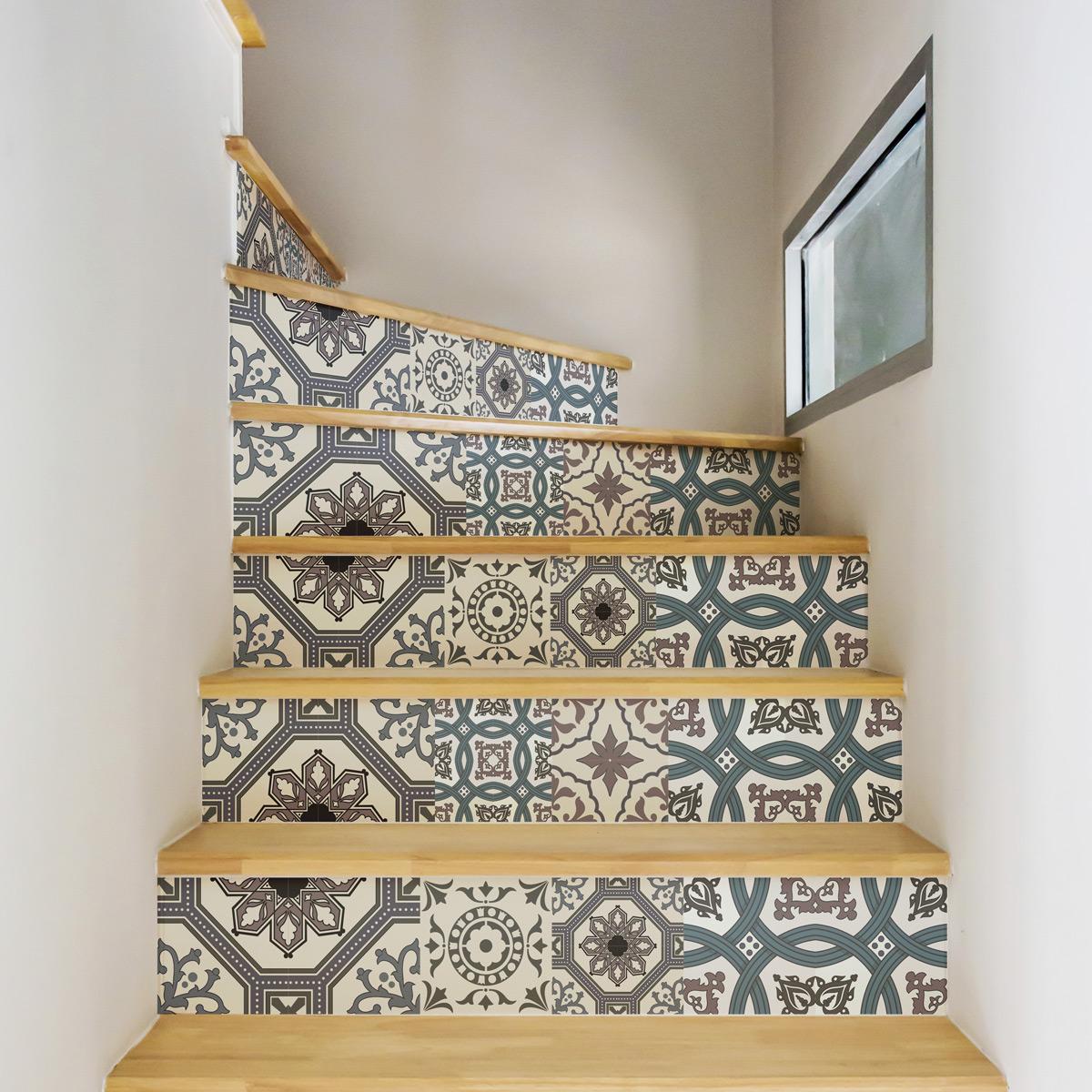 stickers contremarche carrelages ignozio x 2 stickers carrelage stickers carrelage escalier. Black Bedroom Furniture Sets. Home Design Ideas