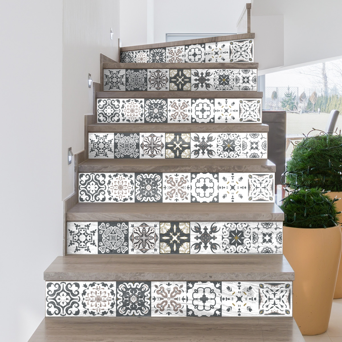 stickers contremarche romolo x 2 stickers carrelage. Black Bedroom Furniture Sets. Home Design Ideas