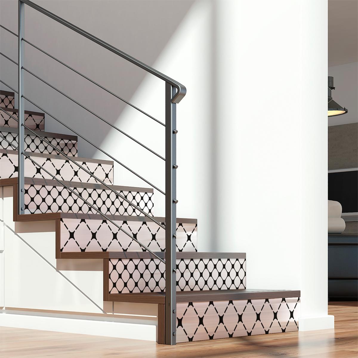 stickers contremarche sanela x 2 stickers carrelage stickers carrelage escalier ambiance sticker. Black Bedroom Furniture Sets. Home Design Ideas