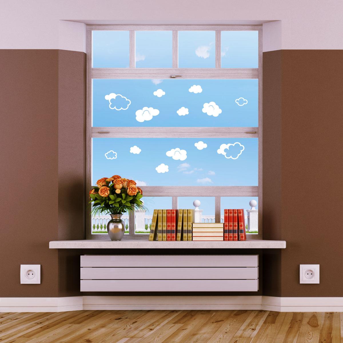 stickers lectrostatiques sticker nuages ambiance. Black Bedroom Furniture Sets. Home Design Ideas