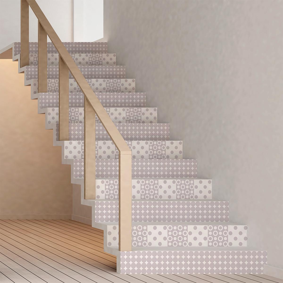 stickers escalier carreaux de ciment bj rn x 2 ambiance. Black Bedroom Furniture Sets. Home Design Ideas