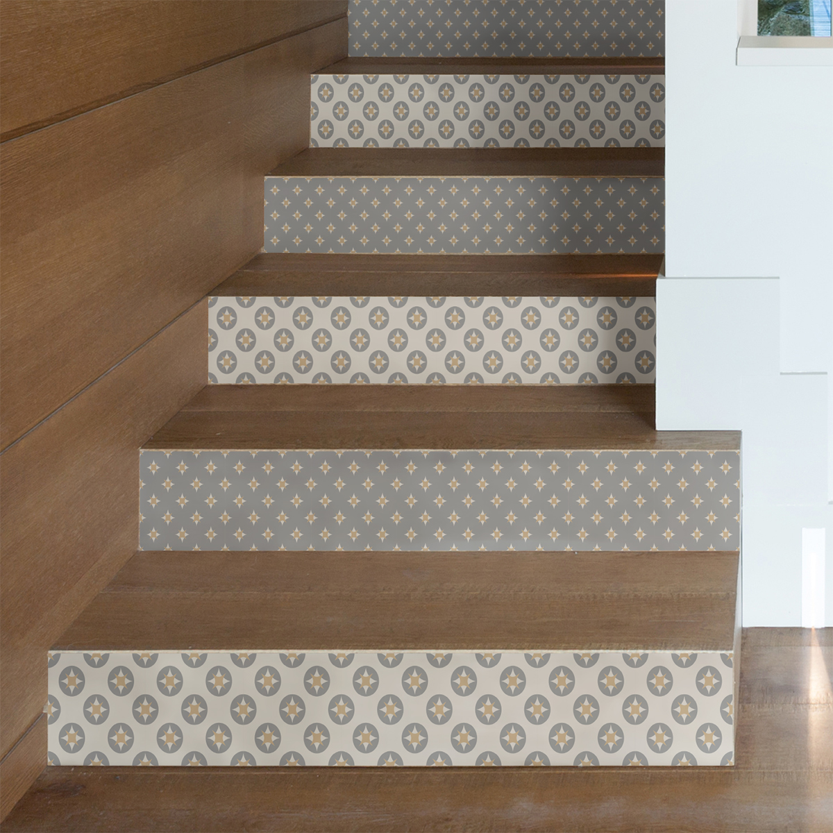 stickers escalier carreaux de ciment konrad x 2 ambiance sticker col stairs ros b095 stickers. Black Bedroom Furniture Sets. Home Design Ideas